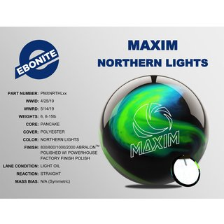 Ebonite Maxim Northern Lights