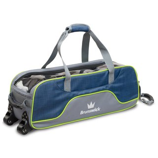 Brunswick Crown Deluxe Triple Tote navy lime