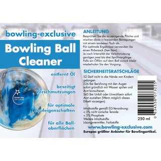 Bowling Ball Reiniger Set bowling-exclusive Cleaner Pro Bowl Microfiber Towel